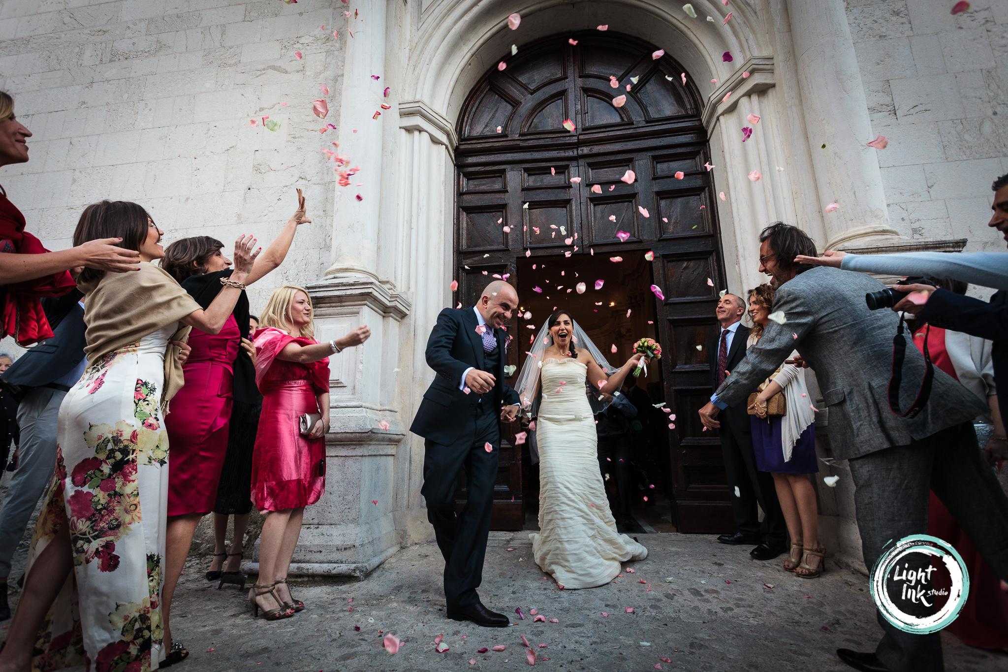 Foto matrimonio uscita dalla chiesa